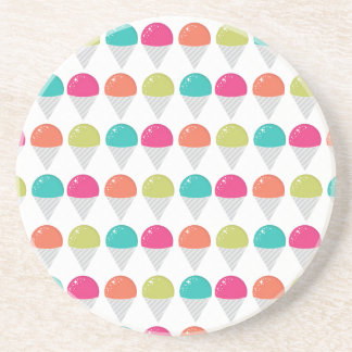 Colorful Snowcones Coaster