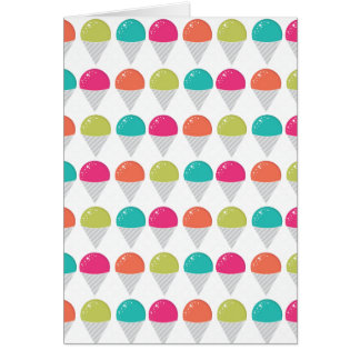 Colorful Snowcones Greeting Card