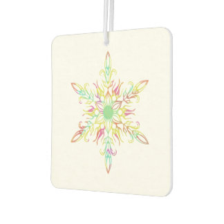 Colorful Snowflake Holiday Car Air Freshener