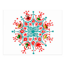 Colorful Snowflake Postcard