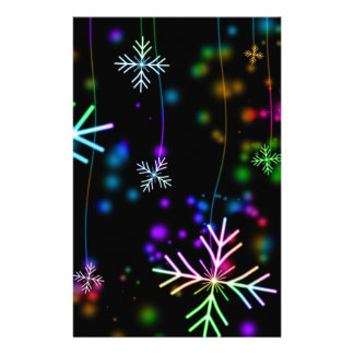 Colorful Snowflakes Stationery