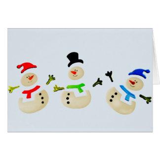 Colorful Snowman Christmas Parade Greeting Card