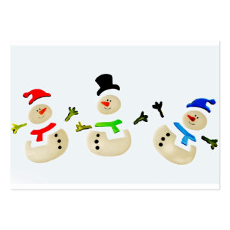 Colorful Snowman Christmas Parade Large Business Card