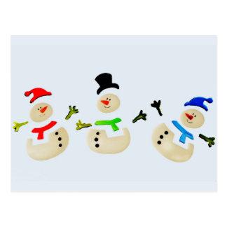 Colorful Snowman Christmas Parade Postcard