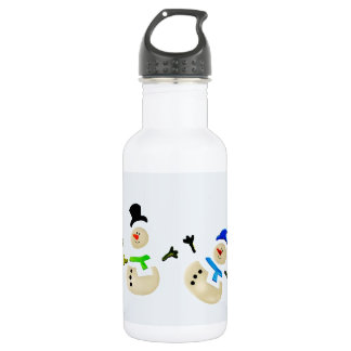 Colorful Snowman Christmas Parade Water Bottle