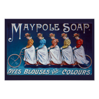 Colorful Soap Advertisement Poster