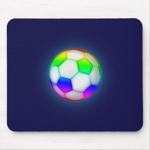 Colorful Soccer Ball (football) Mouse Pad