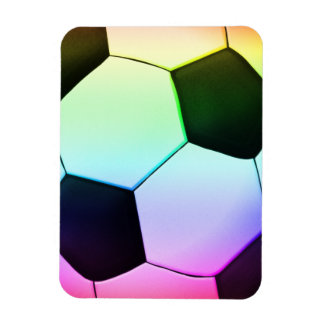 Colorful Soccer Ball (football) Rectangular Photo Magnet