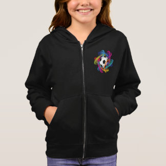 Colorful Soccer Ball Girls Hoodie