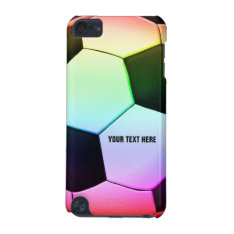 Colorful Soccer Ball | Girly Cool Gift iPod Touch 5G Cover at Zazzle