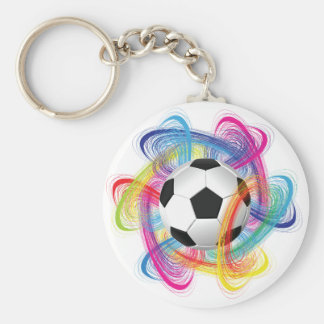 Colorful Soccer Ball Keychain