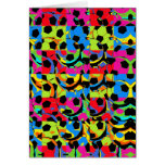 Colorful Soccer Balls Abstract Card