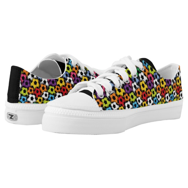 Colorful Soccer Balls Design Sneaker