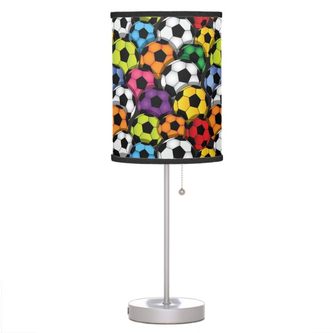 Colorful Soccer Balls Design Table Lamp Shade