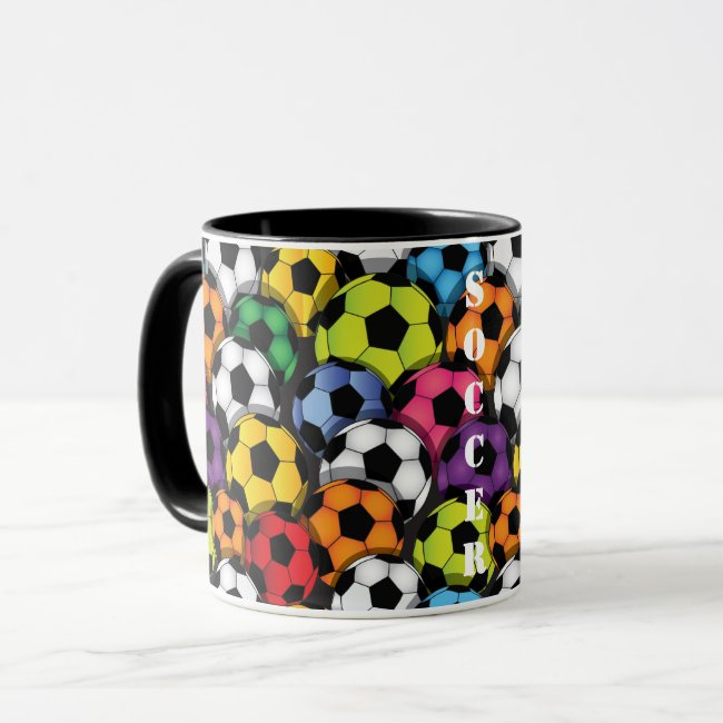 Colorful Soccer Balls Mug