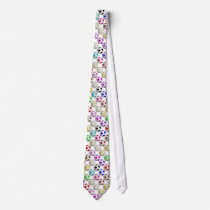 Colorful Soccer Balls Pattern Tie