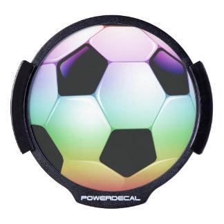 Colorful Soccer | Football LED Car Decal