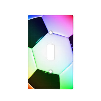 Colorful Soccer | Football Light Switch Switch Plate Covers