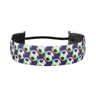 Colorful Soccer | Football Pattern Athletic Headbands