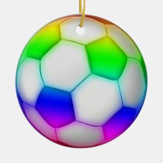 Colorful Soccer | Football Sport Gift Ceramic Ornament