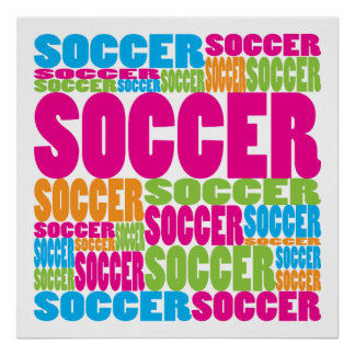 Colorful Soccer Poster