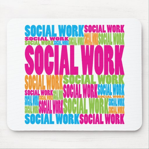 Colorful Social Work Mouse Pad