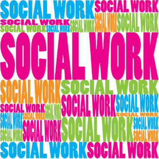 Colorful Social Work Photo Cut Outs