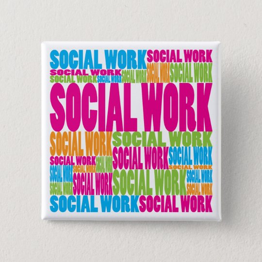 Colorful Social Work Pinback Button