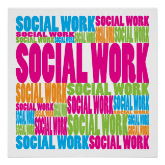 Colorful Social Work Poster