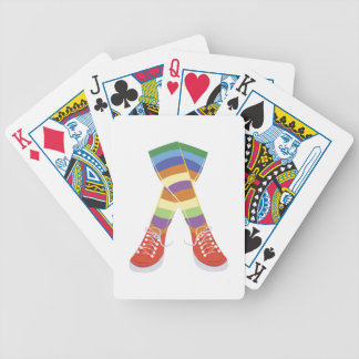 Colorful Socks Bicycle Playing Cards