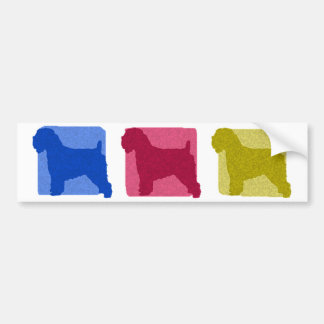 Colorful Soft Coated Wheaten Terrier Silhouettes Bumper Sticker
