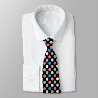 Colorful Soft Pastel Colors Polka Dots Pattern Neck Tie