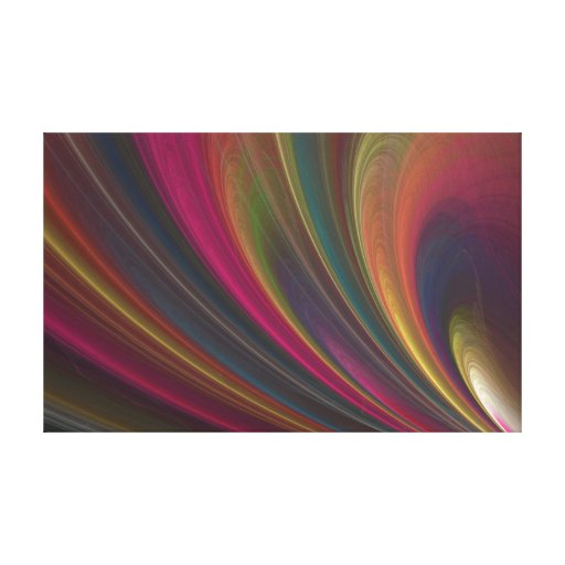Colorful Soft Sand Waves Canvas Print