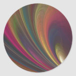 Colorful Soft Sand Waves Classic Round Sticker
