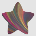Colorful Soft Sand Waves Star Sticker