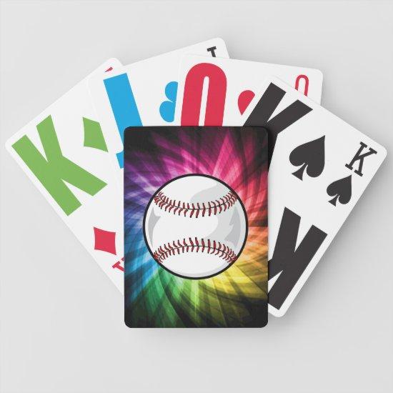 Colorful Softball; Baseball Bicycle Playing Cards