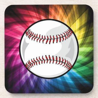 Colorful Softball; Baseball Coaster