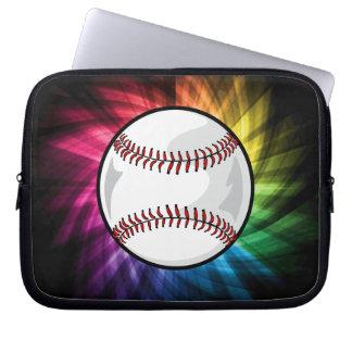 Colorful Softball; Baseball Laptop Sleeves