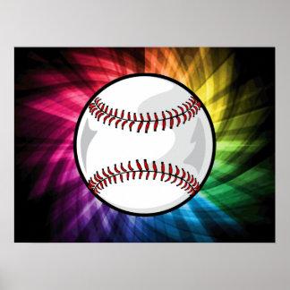 Colorful Softball; Baseball Poster