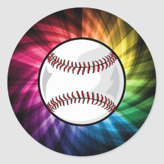 Colorful Softball; Baseball Stickers