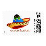 Colorful Sombrero Cinco de Mayo Postage Stamps