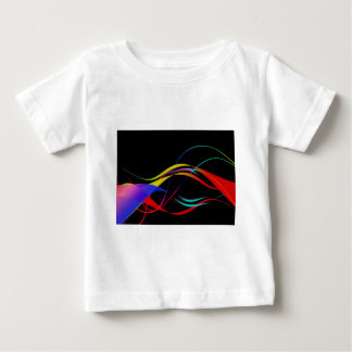 Colorful Sound Waves Baby T-Shirt