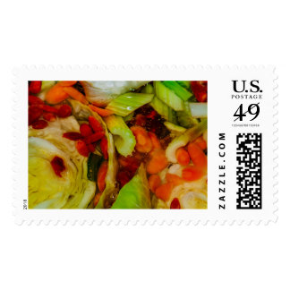 Colorful Soup Abstraction Postage