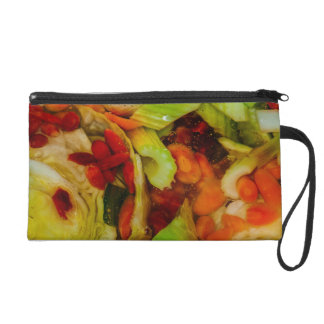 Colorful Soup Abstraction Wristlet