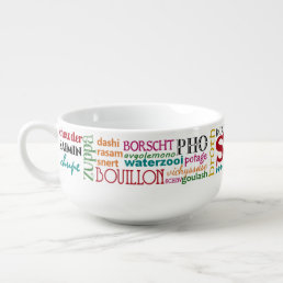 Colorful Soup Words from Around the World Soup Mug