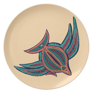 Colorful South Seas Art Dinner Plate