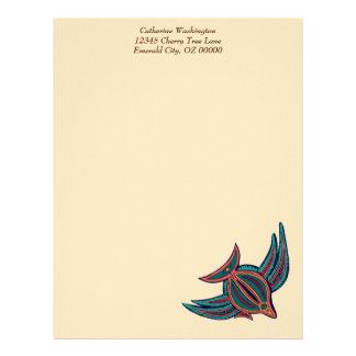 Colorful South Seas Art Letterhead