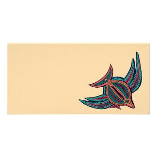 Colorful South Seas Art Photo Card