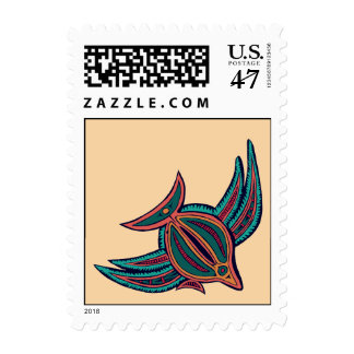 Colorful South Seas Art Stamp
