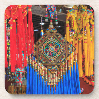 Colorful souvenirs in a shop, China Beverage Coaster